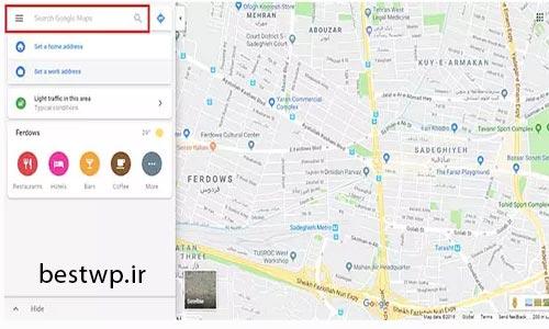 Search Google Maps