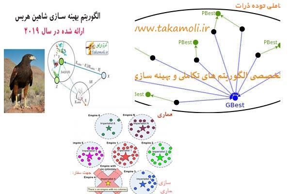 طراحی سایت الگوریتم های بهینه سازی و تکاملی